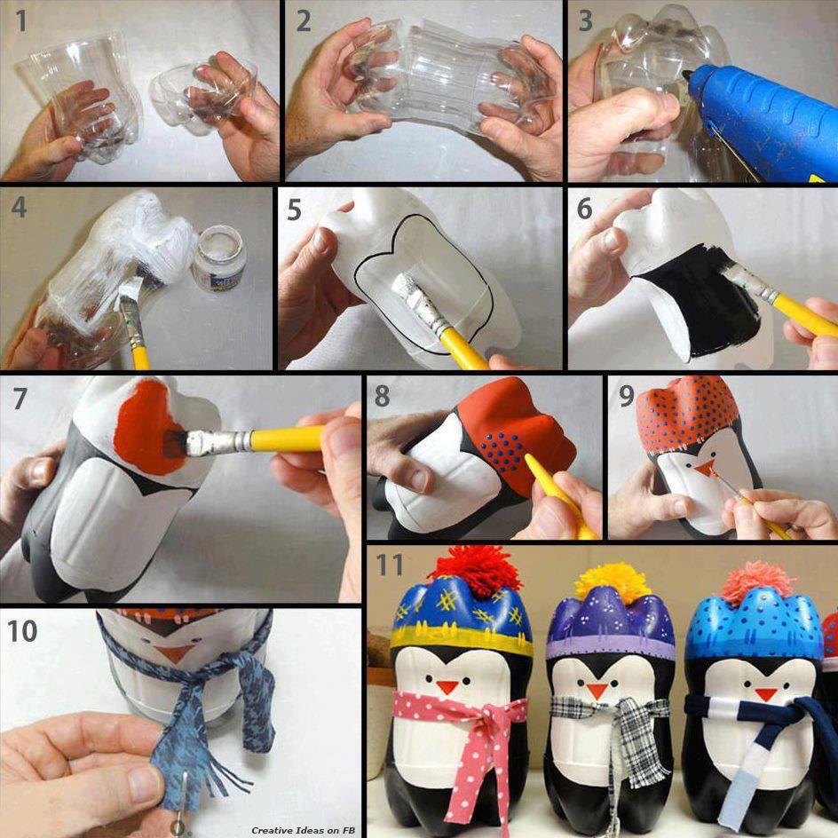 Сделай сам поделки из пластиковых бутылок своими руками