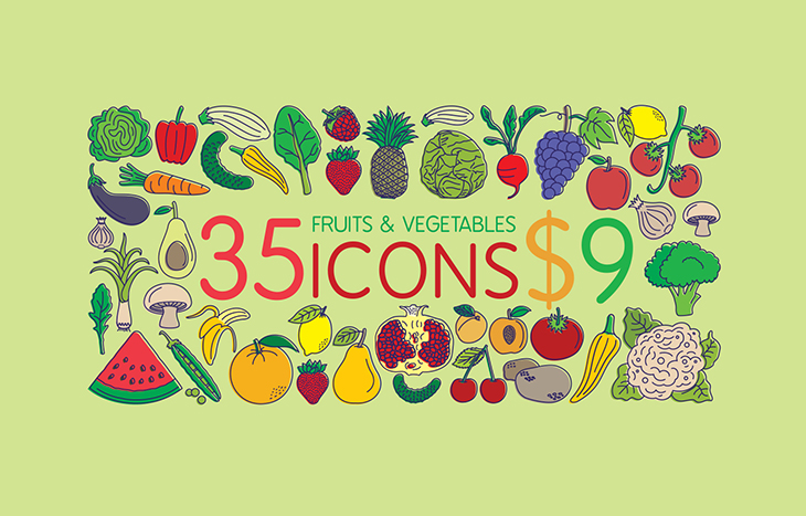 Icons - Fruits vegetables