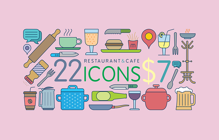 Icons - Restaurant and cafe